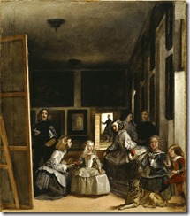 THE HOUSEHOLD OF PHILIP IV or LAS MENINAS by Juan Bautista Martinez del Mazo (c1612-15-1667) after Diego Velazquez (1599 - 1660), at Kingston Lacy, Dorset